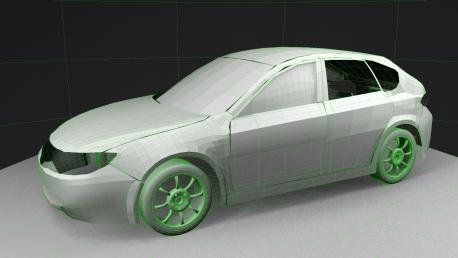 W.I.P. Subaru Impreza 2.0 N/A MY 2008 | Wireframe without Smooth (1)
